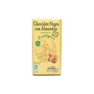 Black Organic Chocolate with Almonds