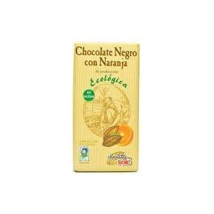 Ecological Black Chocolate with Orange