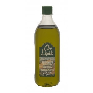 Extra Virgin Olive Oil. Arbequino - Oro Líquido - 35 fl. Oz  bottle.