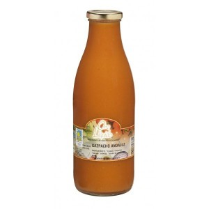 Organic Gazpacho Andaluz, Oro Molido 35fl oz. glass bottle.